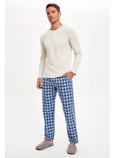 Defacto –Fit Pijama Alt ve Üst Takım Bej